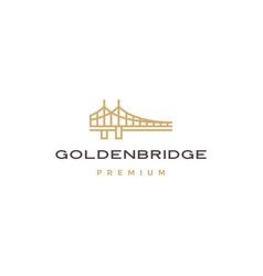 golden bridge logo icon vector image