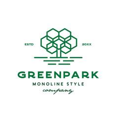 green park logo vector image