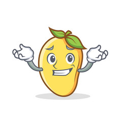 Grinning mango character cartoon mascot vector