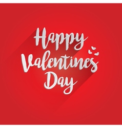 Happy Valentines Day Lettering Design vector image