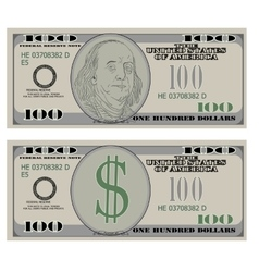 Hundred dollar bank notes vector
