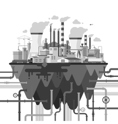 Industrial landscape in flat style vector image