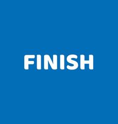 Inscription finish blue field flat icon vector
