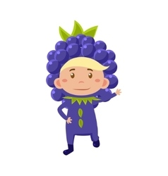 Kid In Blackberry Costume vector image