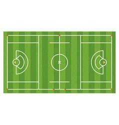 Lacrosse field aerial vector