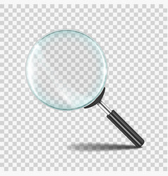 magnifying glass realistic zoom lens icon with vector image