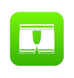 Man boxer briefs icon digital green vector
