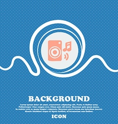music column disco music melody speaker sign icon vector image