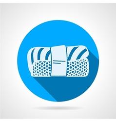 Nigiri sushi flat round icon vector image