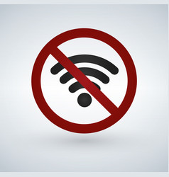 no or forbidden wifi signal sign isolated on vector image