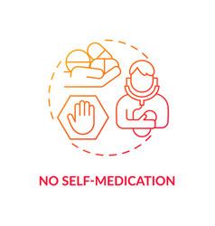 No self-medication concept icon vector