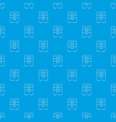 office closet pattern seamless blue vector image