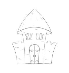 old castle outline vector image