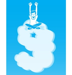 On Cloud Nine vector image vector image