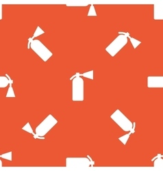Orange fire extinguisher pattern vector