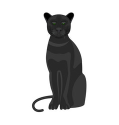 panther predatory animal pantera wild cat vector image