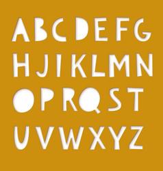Paper cut font vector