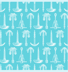 pattern with boat anchors vector image