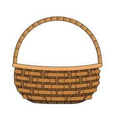 Picnic basket cartoon vector