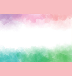 rainbow watercolor wet splash background frame vector image