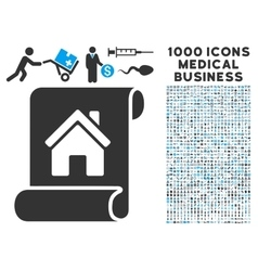 Realty description roll icon with 1000 medical vector