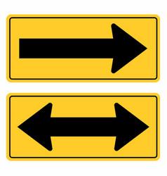 road arrows sign vector image