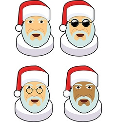 Santa icon sets vector