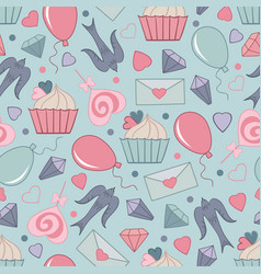 seamless pattern for saint valentine day 05 vector image