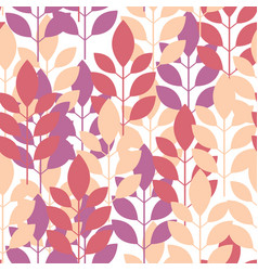 Seamless plant pattern of leaves shoots vector