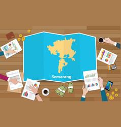 Semarang indonesia java city region economy vector