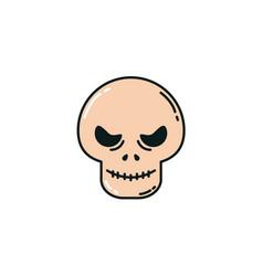 Skull head halloween flat icon vector