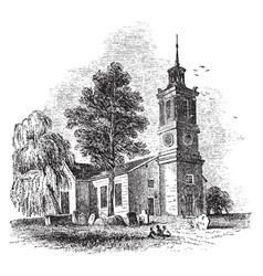 st johns church vintage vector image