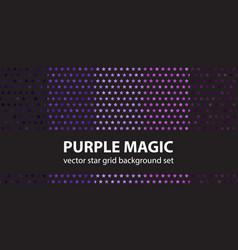 Star pattern set purple magic seamless vector