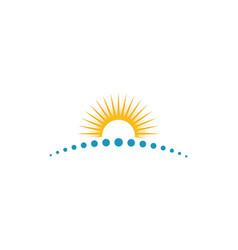 Sun logo template design vector