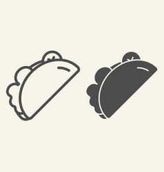 taco line and glyph icon burrito vector image