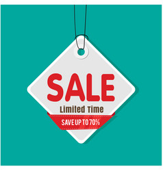 tag sale sale limited time save up to 70 i vector image
