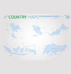 thailand malaysia indonesia and singapore vector image