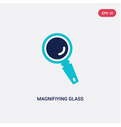 two color magnifiying glass icon from general vector image