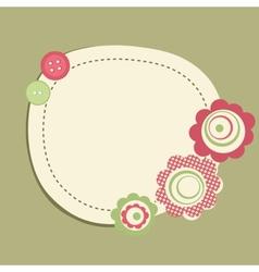 Vintage frame on polka dot background vector image