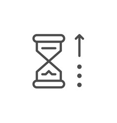 waiting time line icon vector image
