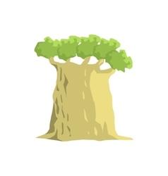 Wide Old Baobab Tree Jungle Landscape Element vector image