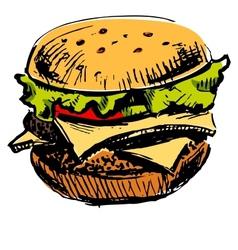 Delicious juicy burger vector image vector image