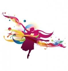 flourish ballerina vector image vector image