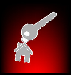 key with keychain as an house vector image vector image