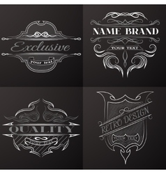 Set of vintage emblem with space for text vector image vector image