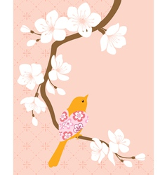 Blossom cherry branch 1 vector image vector image