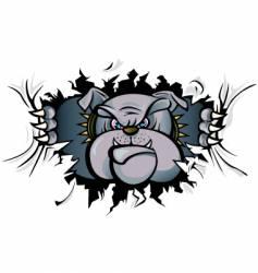 bulldog attack vector image