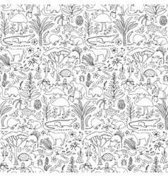 Hand drawn Australia seamless pattern vector image