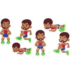 Men exercise cardio vector