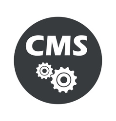 Monochrome round CMS settings icon vector image
